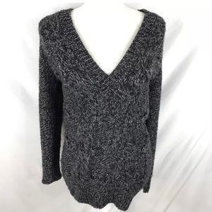 Ann Taylor Chunky Knit V-Neck Sweater Size M